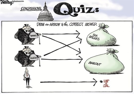 Bill Day - Cagle Cartoons - GENIUS IQ TEST - English - fiscal cliff, tax breaks, wealthy, banks