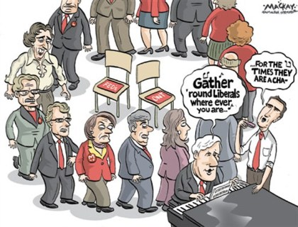 Gather Liberals © Grame MacKay,The Hamilton Spectator, Ontario Canada,feds,liberals