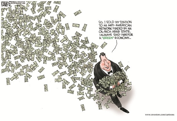 Green Economy © Michael Ramirez,Investors Business Daily,green,al gore,network,oil,rich,arab