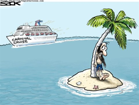 Steve Sack - The Minneapolis Star Tribune - Carnival Cruisin' COLOR - English - Carnival Cruise, ship, tourist, vacation