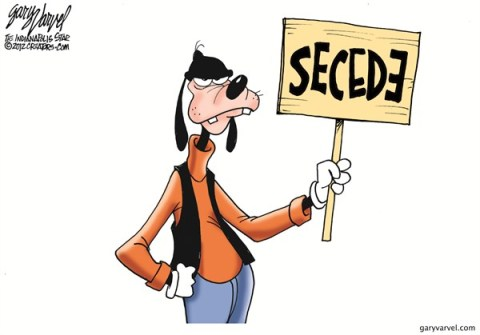 Secede © Gary Varvel,The Indianapolis Star News,