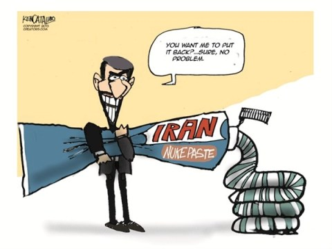 Irans Nukepaste © Ken Catalino,National/Syndicated,nukes,weapons,violence