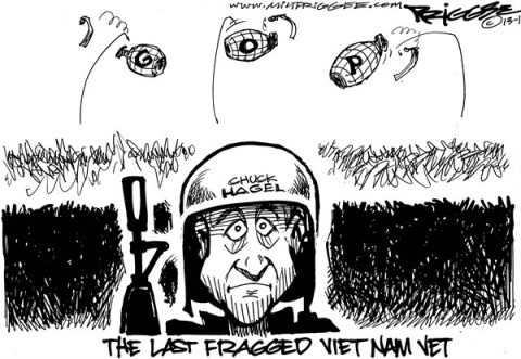 Milt Priggee - www.miltpriggee.com - Hagel - English - chuck hagel, viet nam, gop, republicans, defense secretary, congress