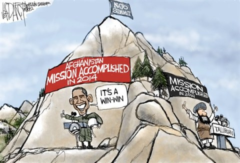 NATO Summit © Jeff Darcy,The Cleveland Plain Dealer,nato,summit,afghanistan,mission,win,accomplished,taliban