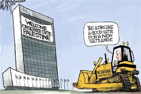 New Settlement © Jeff Darcy,The Cleveland Plain Dealer,palestine,settlement,state,netanyahu,un