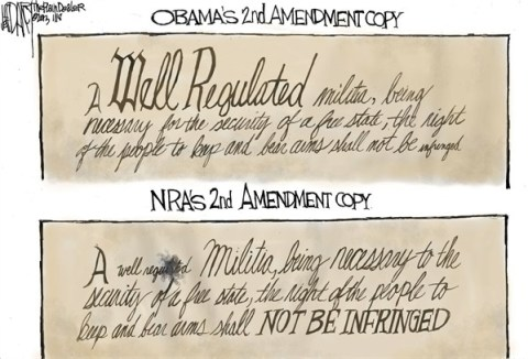 Jeff Darcy - The Cleveland Plain Dealer - Second Amendment - English - guns,nra,militia,regulated,violence,obama,obama-guns