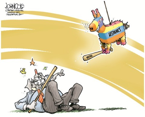 John Cole - The Scranton Times-Tribune - GOP and the piñata - English - GOP, IMMIGRATION, REFORM, HISPANIC, LATINO, VOTERS, DEMOCRATS, 2012 ELECTION