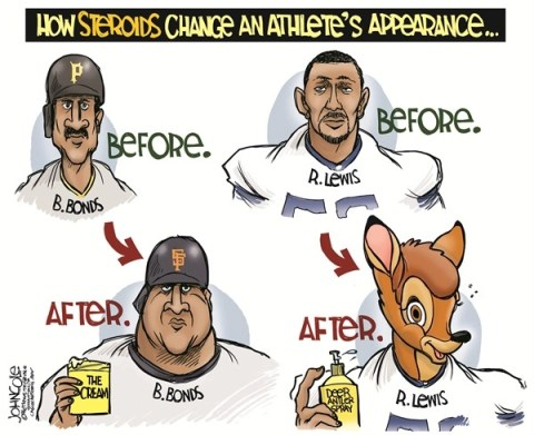 John Cole - The Scranton Times-Tribune - Ray Lewis and deer-antler spray COLOR - English - ray lewis, baltimore, ravens, super bowl, nfl, steroids, doping, deer antler spray