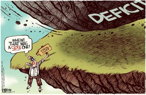 Rick McKee - The Augusta Chronicle - Fiscal Cliff Deficit - English - Fiscal cliff, deficit, Congress, spending, President, Obama