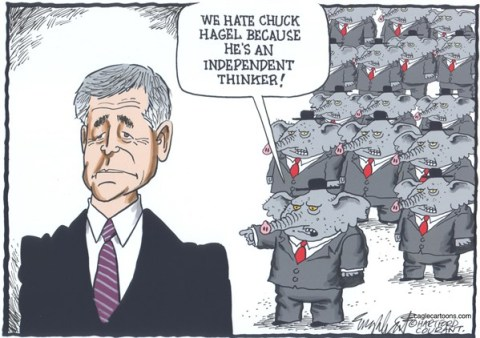 Bob Englehart - The Hartford Courant - Chuck Hagel - English -