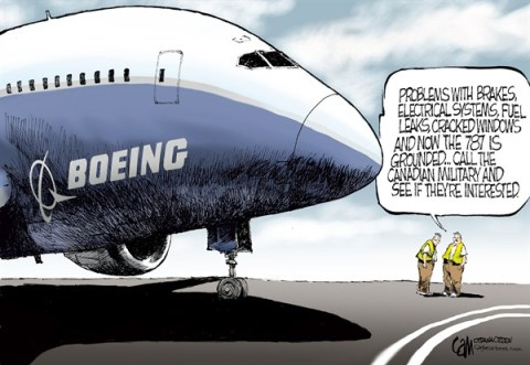 Cardow - The Ottawa Citizen - CANADA 787 - English - CANADA, Boeing, 787, dreamliner, military, Canadian, problems