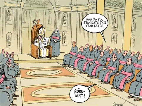 Patrick Chappatte - Le Temps, Switzerland - The pope resigns - English - Benedict XVI, Pope, Catholic Church, Vatican