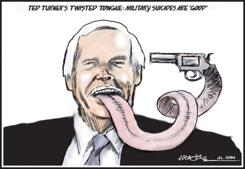J.D. Crowe - Mobile Register - Ted Turner's Twisted Tongue - English - Ted Turner, military suicides