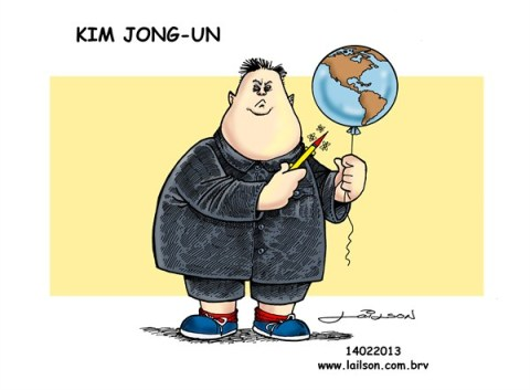 Lailson - Humor World - Kim Jong-Un_A boy with his toy - English - kim jong-un, north korea, atomics, nuclear, coreia, nukes