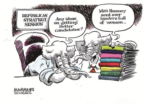 Jimmy Margulies - The Record of Hackensack, NJ - Republican strategy session - English - Republican losses in 2012 election, Romney, 2012 presidential vote, Republican party, Republican war on women, Abortion, Planned Parenthood, Obamacare contraceptive coverage