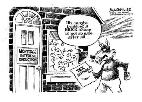 Jimmy Margulies - The Record of Hackensack, NJ - Mortgage interest deduction in peril - English - Mortgage interest deduction, housing, real estate, tax reform, tax deductions, fiscal cliff, deficit, debt