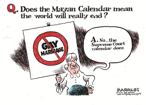 Jimmy Margulies - The Record of Hackensack, NJ - Supreme Court to hear gay marriage color - English - Gay Marriage, Same Sex Marriage, Defense of Marriage Act, Supreme Court, Mayan Calendar