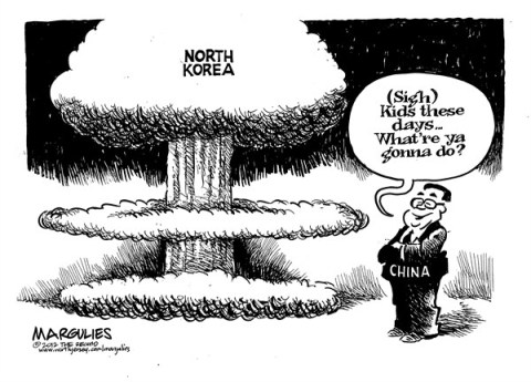 Jimmy Margulies - The Record of Hackensack, NJ - North Korea and China - English - North Korea, China, North Korea nukes, North Korea rocket launch, North Korea missile test, Kim Jong-un, Kim Jong-il, Nuclear proliferation