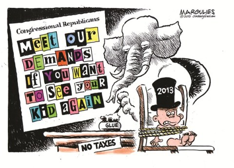 House Republicans © Jimmy Margulies,The Record of Hackensack, NJ,House Republicans,Fiscal cliff,Speaker Boehner,Budget deficit,new year 2013