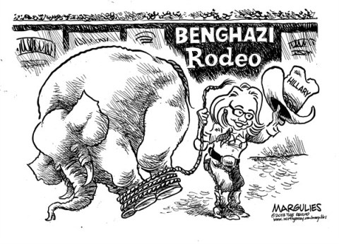 Jimmy Margulies - The Record of Hackensack, NJ - Hillary Clinton  Benghazi hearing  - English - Hillary Clinton, Benghazi, Benghazi hearing, Secretary of State Clinton, US Embassy in Libya, Libya, Ambassador Christopher Stevens, Terrorism, North African terrorism, Arab Spring, Al Qaeda