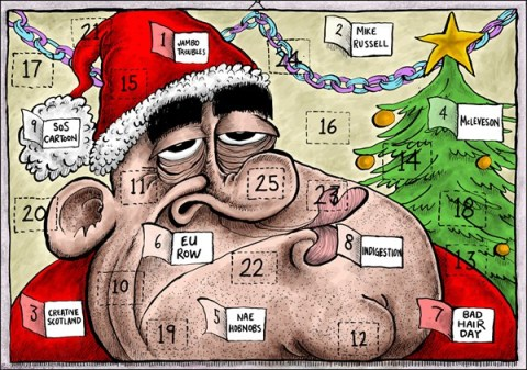 Brian Adcock - The Scotland - Scottish Leader Advent Calendar - English - advent calendar, scottish, scotland, alex salmond, SNP, bad week,salmond, christmas, scottish leader