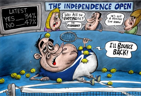 Brian Adcock - The Scotland - The Independence Open - English - the independence open, alex salmond, andy murray, murray defeat, australian open, SNP, independence popularity, independence support, economy,