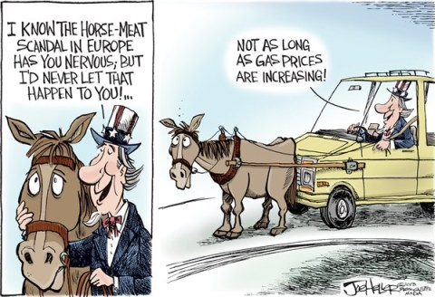 Joe Heller - Green Bay Press-Gazette - Gas - English - gas, opec, energy, horse meat, suv, prices, petro