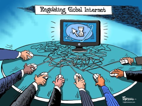 Paresh Nath - The Khaleej Times, UAE - Regulating Internet COLOR - English - Regulation, internet, UN Telecom treaty, Dubai summit,web control,hang up,stand off