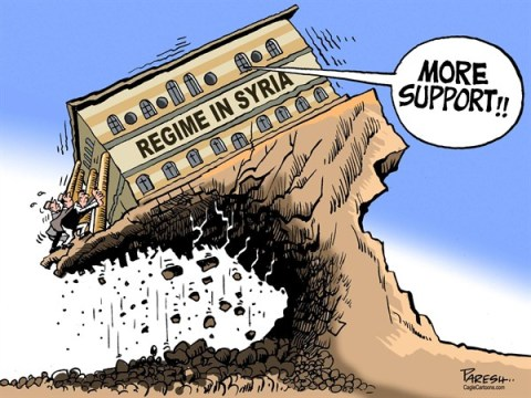 Paresh Nath - The Khaleej Times, UAE - Syrian regime COLOR - English - Syrian regime, Assad,crumbling, defection,more support,ground realities, rebels victory
