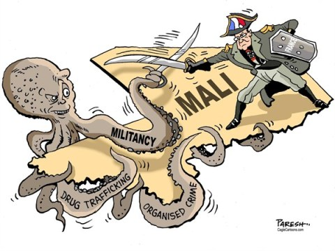 Paresh Nath - The Khaleej Times, UAE - Mali challenges - English - Mali, France, Islamist rebels, Africa, Francois Hollande, octopus, militancy, organised crime, drug trafficking