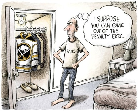 Adam Zyglis - The Buffalo News - NHL Returns COLOR - English - nhl, hockey, sabres, buffalo, fans, owners, players, lockout, season, 2013, games, sports, entertainment