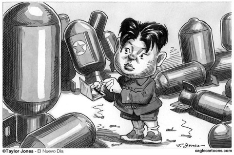 Taylor Jones - El Nuevo Dia, Puerto Rico - Li'l Kim strikes - English - kim,jong-un,korea,north korea,nuclear,bomb,nuclear weapons,nuclear proliferation,matches