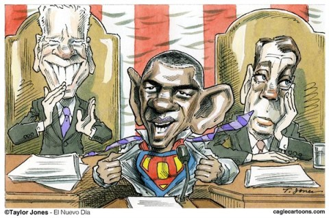Taylor Jones - El Nuevo Dia, Puerto Rico - State of the Union - COLOR - English - barack,obama,joe,biden,boehner,john boehner,state of the union,superman