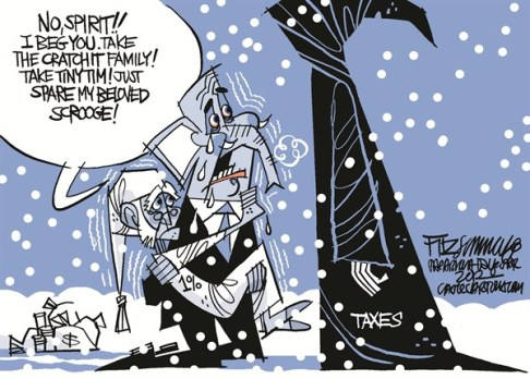 David Fitzsimmons - The Arizona Star - Not my Ebeneezer - English - congress, fiscal cliff, taxes