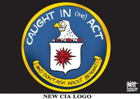 Randy Bish - Pittsburgh Tribune-Review - NEW CIA LOGO, COLOR - English - CIA, PETRAEUS, RESIGNED