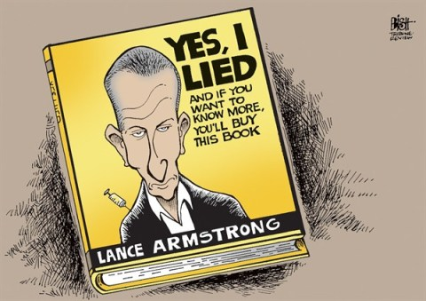 Randy Bish - Pittsburgh Tribune-Review - LANCE ARMSTRONG CONFESSES, COLOR - English - LANCE ARMSTRONG, OPRAH, GUILTY, CONFESS, DOPING, DRUGS