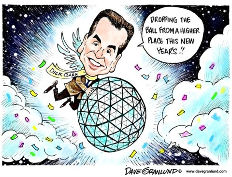 Dave Granlund - Politicalcartoons.com - New Year ball drop - English - New years, New year, 2013, Times Square, Dick Clark, abc, new years eve, New York, TV, television,