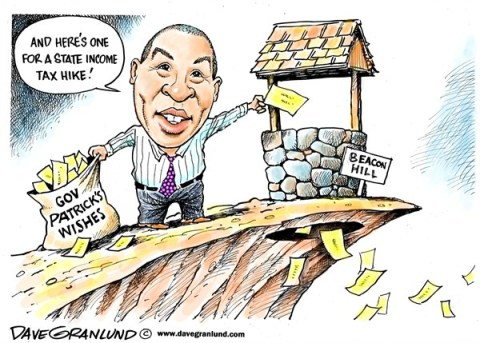 Dave Granlund - Politicalcartoons.com - Gov Patrick tax wish - English - Governor patrick, Guv, Gov patrick, Massachusetts, MA, Beacon Hill, wish list,income tax hike, proposals, mass,duval, lawmakers,