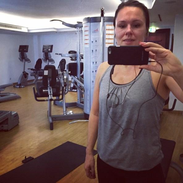 Ett morgonbesök på Kempinskis gym.