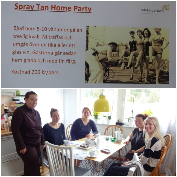 Jag testade ett Spray tan home party...