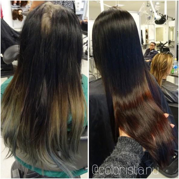 Fyra frisörer skapade åtta fina hårfärger