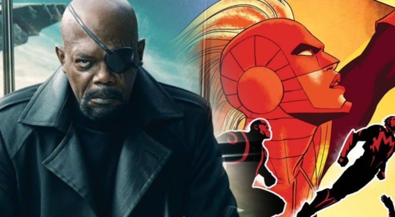 Samuel L  Jackson Reveals Captain Marvel Movie Shirt That Shows Her Mask