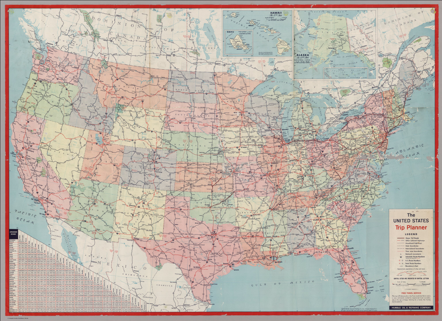 The United States Trip Planner   David Rumsey Historical Map Collection VIEW IN GEOREFERENCER BUY PRINT EXPORT