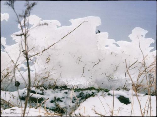 Stormen har skapat märkliga isformationer.