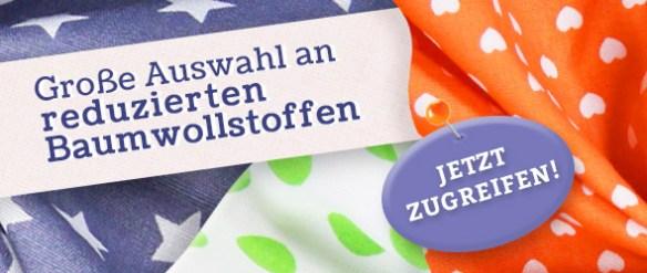 Radikal reduziert: Baumwollstoffe ab 4 €