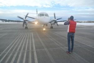 Saab 340 med motorerna igår
