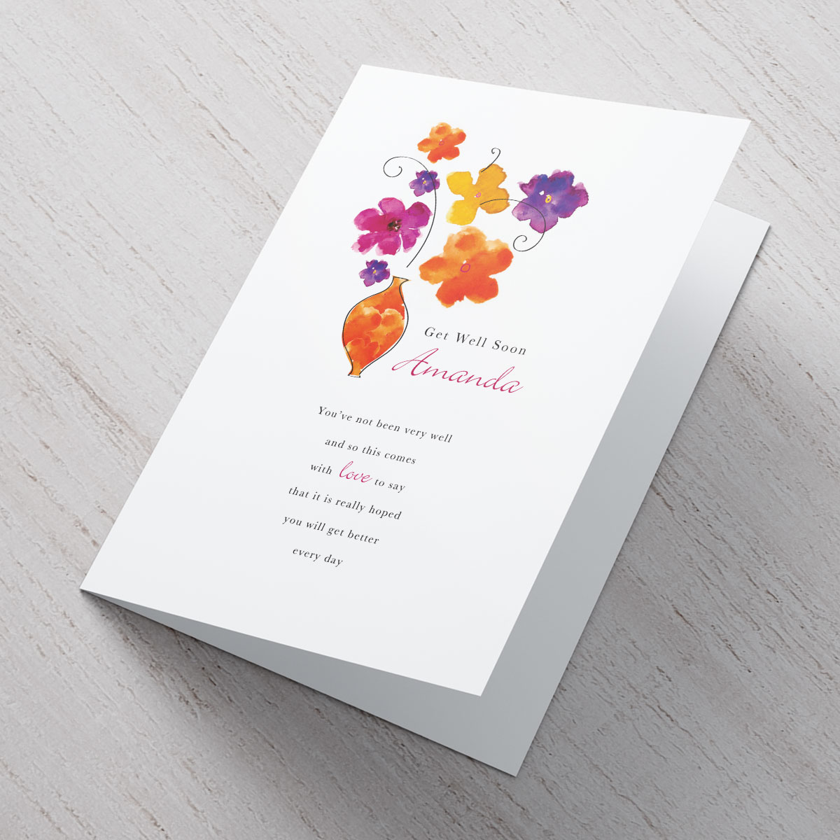 Admirable Get Well Soon Flower Vase An Personalised Card M Get Well Cards To Make Get Well Cards Ny M Get Well Soon Flower Vase An Personalised Card cards Get Well Cards