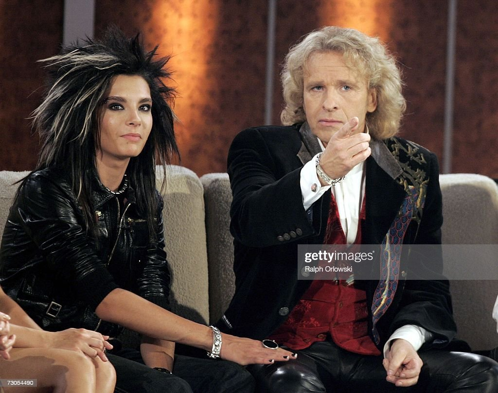 Wetten Zdf Live Show That Stock Photos and Pictures   Getty Images Bill Kaulitz singer of German pop band  Tokio Hotel  and television host  Thomas Gottschalk