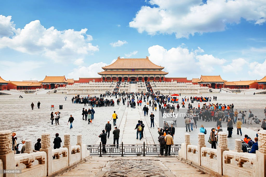 Beijing Stock Photos and Pictures   Getty Images Entrance to Forbidden City in Beijing  China