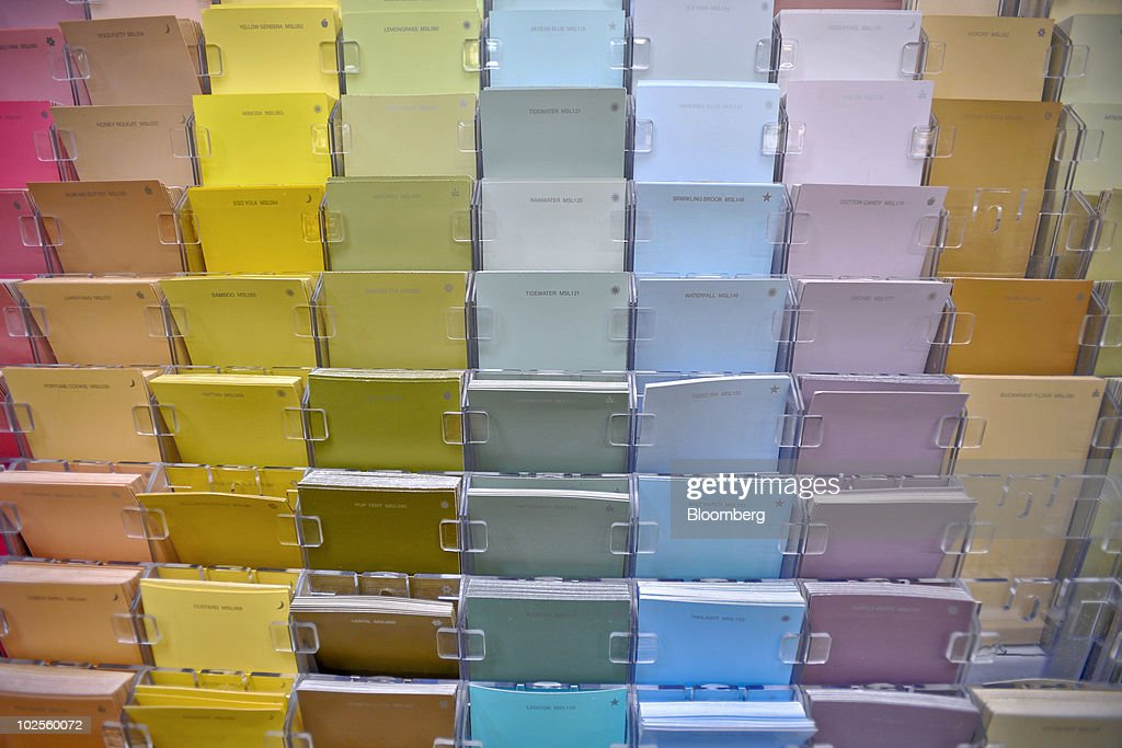 ... Martha Stewart Living Paint Swatches Sit On Display In A Home De  Picture Id102560072 · 251164c0a1f34258bd46ffddda812deb